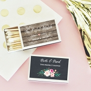 Personalized Floral Garden Match Boxes (set of 50)