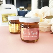 Personalized Honey Jar Favor with Metallic Foil Labels