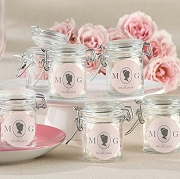 Cameo Design Personalized Glass Jar Favors (set of 12)