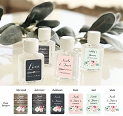 Floral Bouquet Personalized Hand Sanitizers