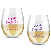 Girls Night Out Personalized Stemless Wine Glass (9 oz or 15 oz)