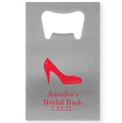 High Heel Personalized Credit Card Bottle Opener
