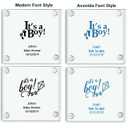 Personalized Baby Shower Coasters - It's A Boy