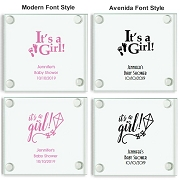Personalized Baby Shower Coasters - It's A Girl