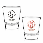 Personalized Wedding Shot Glasses - LOVE Is All You Need