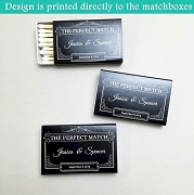 Personalized Wedding Matchboxes - The Perfect Match (Set of 50)