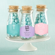 Religious Vintage Mini Milk Bottle Party Favors  (Set of 12)