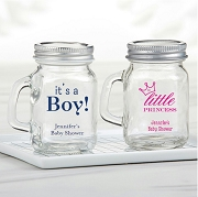 Personalized Mini Mason Jar Baby Shower Party Favors (4 oz)