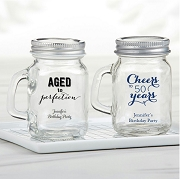 Personalized Mini Mason Jar Birthday Party Favors (4 oz)
