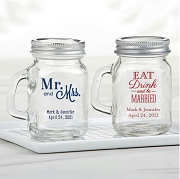 Personalized Mini Mason Jar Wedding Favors (4 oz)
