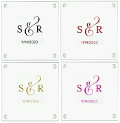 Personalized Monogram Coasters - Classic Design (Set of 12)