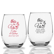 This Is US Personalized Stemless Wine Glass (9 oz or 15 oz)