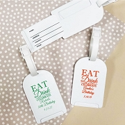 Eat Drink Celebrate Personalized Luggage Tag