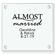 Almost Married Personalized Wedding Coasters