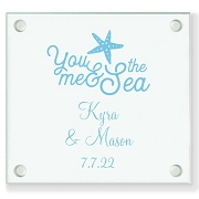 You Me And The Sea Personalized Wedding Coasters