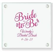 Bride To Be Personalized Wedding Coasters