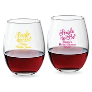 Bride To Be Personalized Stemless Wine Glasses (9 oz or 15 oz)