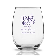 Personalized Stemless Wine Glasses 9 Oz - Bride To Be