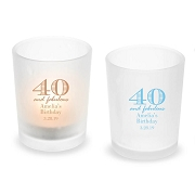 40 and Fabulous Personalized Votive Candle Holder