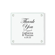 Thank You Personalized Glass Coaster
