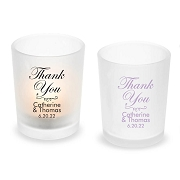 Thank You Personalized Frosted Glass Votive