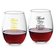 Thank You Personalized Stemless Wine Glass (9 oz or 15 oz)