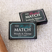 The Perfect Match Personalized Match Boxes (Set of 50)