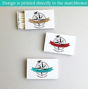 Personalized Our Adventure Begins White Matchboxes (Set of 50)