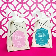 We Tied The Knot Personalized Wedding Favor Box (Set of 12)