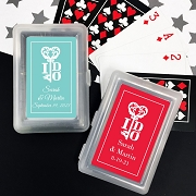 Key To My Heart Playing Cards with Personalized Stickers