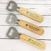 Cheers Personalized Wood Handle Bottle Opener