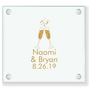 CHEERS Personalized Wedding Coasters