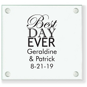 Best Day Ever Personalized Wedding Coasters