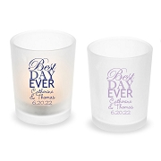 Best Day Ever Personalized Frosted Glass Votive
