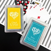 All You Need is Love Playing Cards with Personalized Stickers