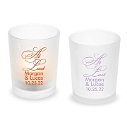 At Last Personalized Frosted Glass Votive