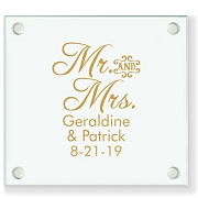 Mr & Mrs Personalized Wedding Coasters - Block Font Style (COPY)