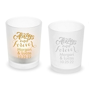 Always and Forever Personalized Frosted Glass Votive
