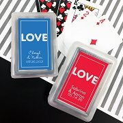 Playing Cards with Personalized Stickers - LOVE Design