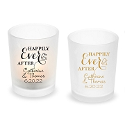 Happily Ever After Personalized Frosted Glass Votive