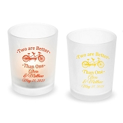 Two Are Better Than One Personalized Frosted Glass Votive