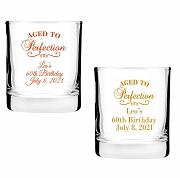 Aged To Perfection Shot Glass Votive Candle Holders (2 oz)
