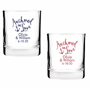 Anchored In Love Personalized Shot Glass Votive Candle Holders (2 oz)