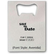 Personalized Save The Date Credit Card Bottle Opener