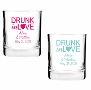 Drunk In Love Personalized Shot Glass Votive Candle Holders (2 oz)