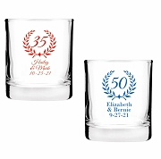 Milestone Birthday Shot Glass Votive Candle Holders (2 oz)