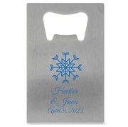 Credit Card Bottle Opener - Snowflake
