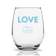 Personalized Stemless Wine Glasses 9 Oz - Love Lights