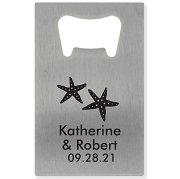 Silver Credit Card Bottle Opener - Starfish