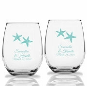Starfish Personalized Stemless Wine Glass (9 oz or 15 oz)